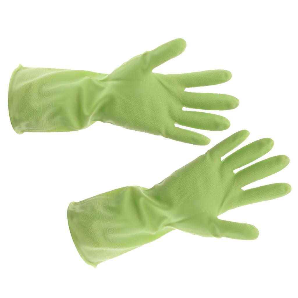 Gloves-Dish-Washing-Cleaning-Waterproof-Soft-Rubber-Scouring-Kitchen-Gloves thumbnail 6