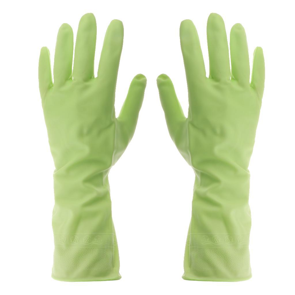 Gloves-Dish-Washing-Cleaning-Waterproof-Soft-Rubber-Scouring-Kitchen-Gloves thumbnail 7