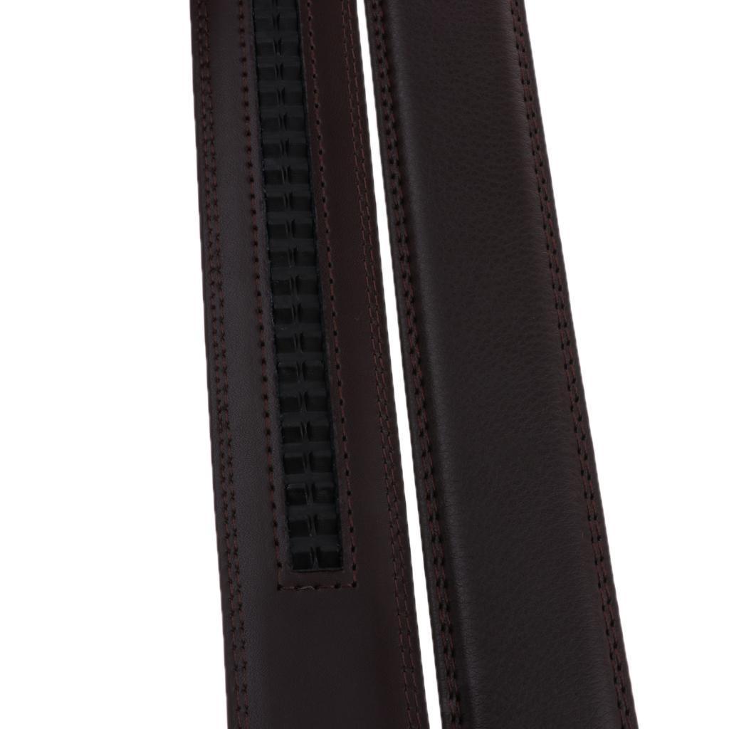 Mens-Leather-Belt-For-Automatic-Buckle-Waist-Strap-Belt-Brown-Black-115cm thumbnail 3