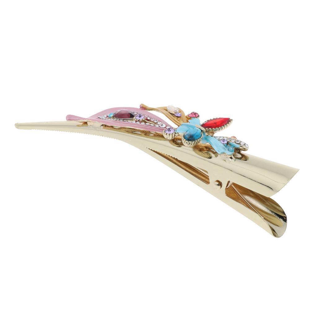 Fermacapelli-per-capelli-in-coccodrillo-con-strass-in-metallo miniatura 14