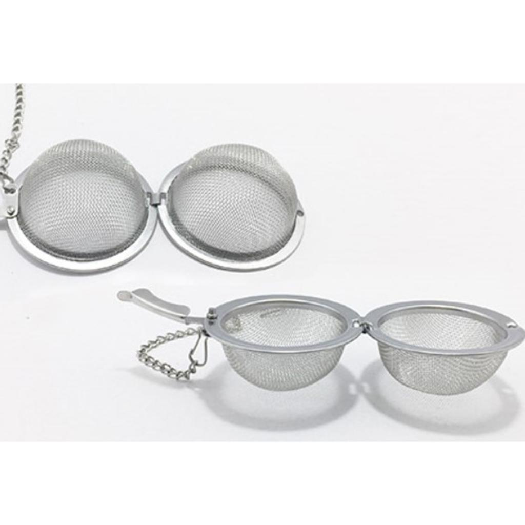 Stainless-Steel-Infuser-Strainer-Mesh-Tea-Filters-Spoon-Locking-Spice-Ball thumbnail 9