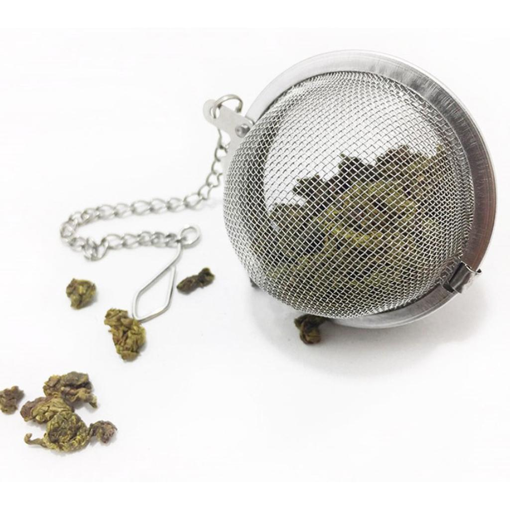 Stainless-Steel-Infuser-Strainer-Mesh-Tea-Filters-Spoon-Locking-Spice-Ball thumbnail 10