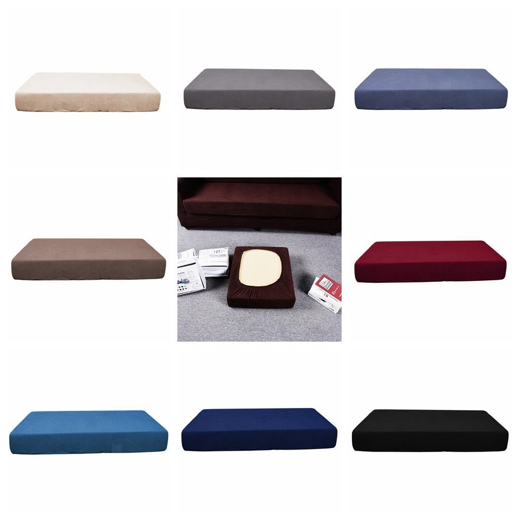 4pcs Single Seat Cushion Cover Slipcover for Sofa Chair Bench Stretch Gray