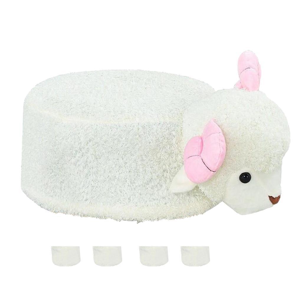Stuffed Animal Round Stool Cover Footstool Slipcover