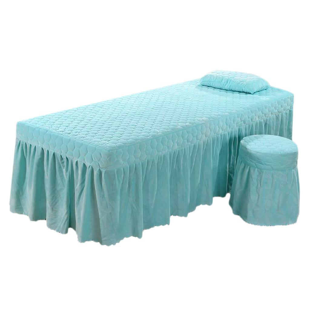 SPA-Massage-Bed-Bedding-Linen-Set-Table-Skirts-Pillow-Case-Stool-Cover thumbnail 9