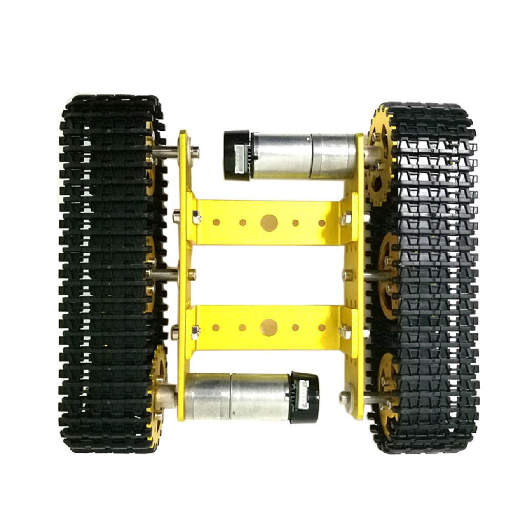Autotelaio Mini robot con cingoli metallici in metallo 12 senza motore con