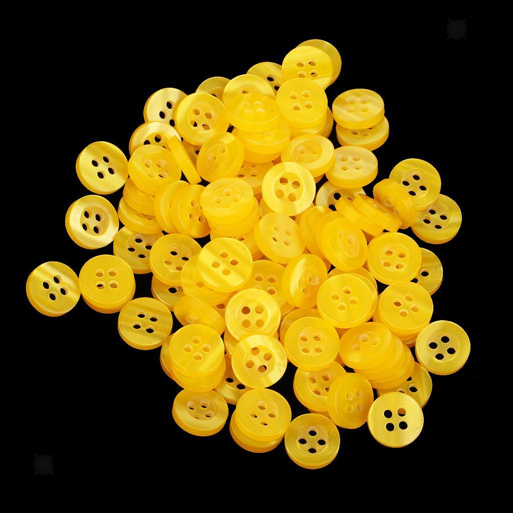 100pcs-4-Holes-Round-DIY-Resin-Buttons-Sewing-Scrapbooking-Clothes-Decor-11mm thumbnail 26