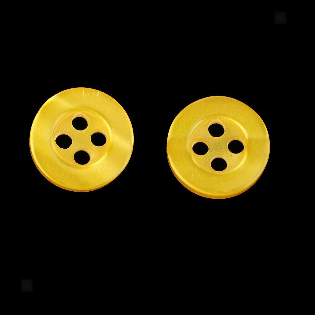 100pcs-4-Holes-Round-DIY-Resin-Buttons-Sewing-Scrapbooking-Clothes-Decor-11mm thumbnail 24