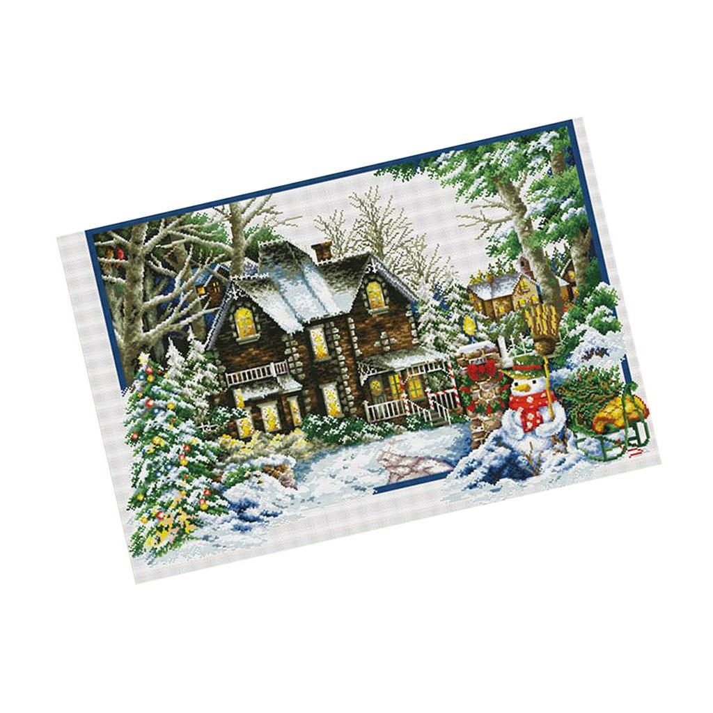 Stamped-amp-Counted-Cross-Stitch-Kit-Embroidery-Crafts-Needlecraft-Seasons thumbnail 4