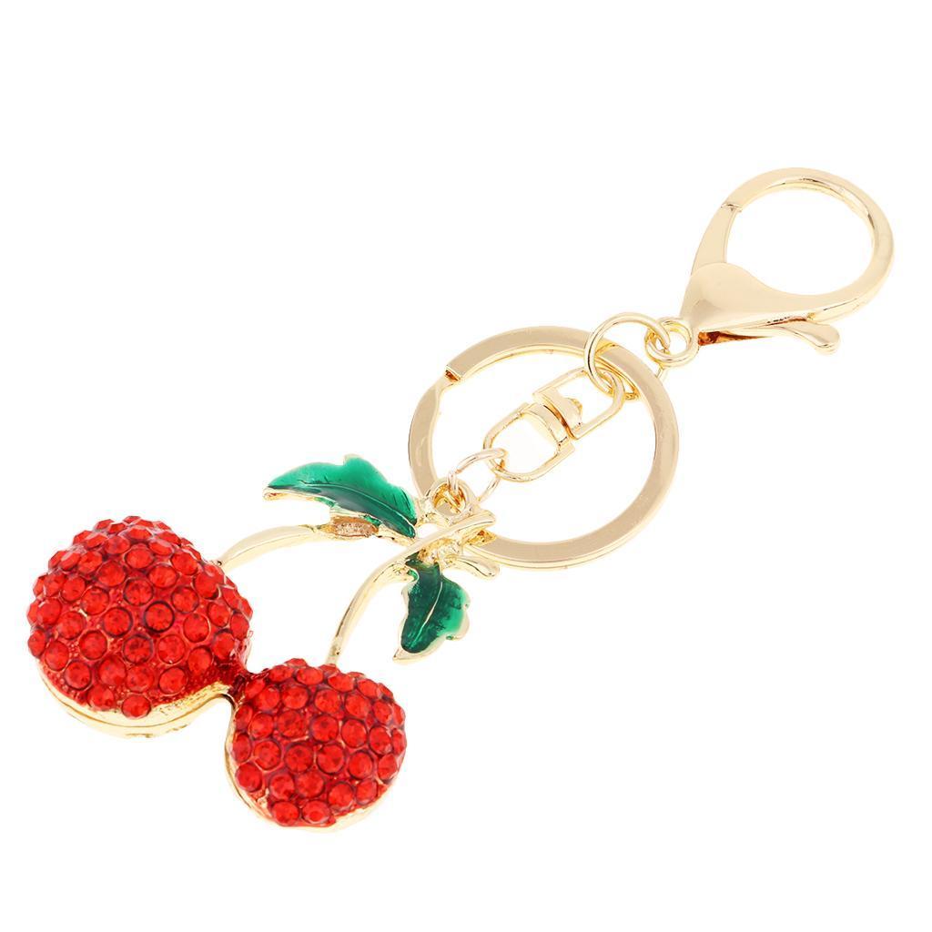 Alloy-Fashion-Flamingo-Rhinestone-Keyring-Bag-Hanging-Decor-Women-Keychain thumbnail 3