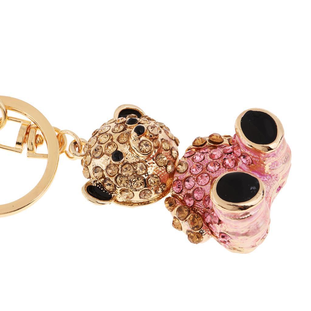 Alloy-Fashion-Flamingo-Rhinestone-Keyring-Bag-Hanging-Decor-Women-Keychain thumbnail 14