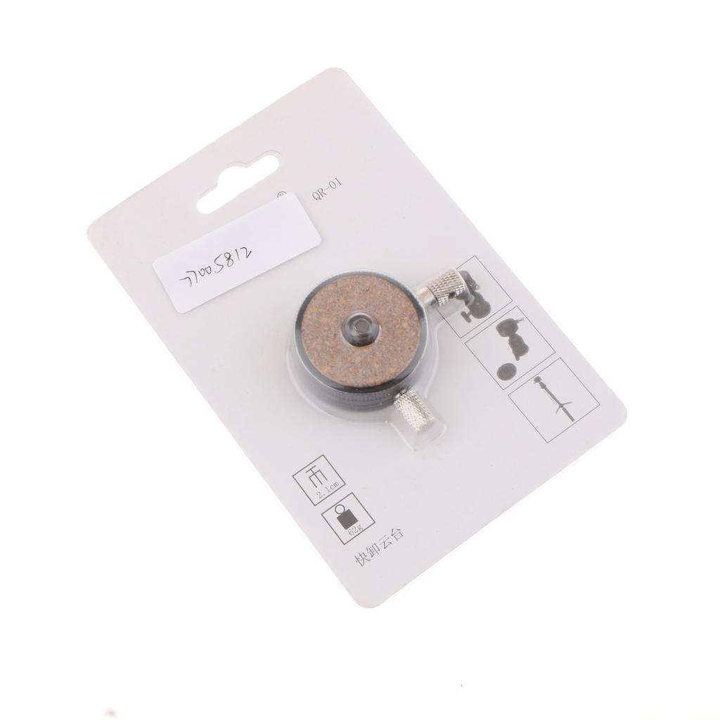 "QR-01 Tripod Quick Release Plate Ballhead 1/4"" Screw for Canon Nikon Sony Digital SLR Cameras"