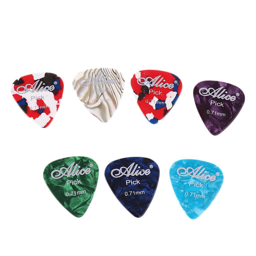 Prelievo-plettro-plettro-100-in-celluloide-con-scatola-per-chitarra-basso miniatura 7