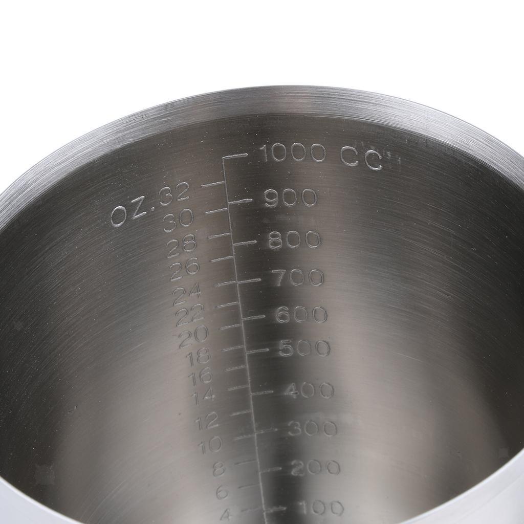 Coppa-Tazza-Tumbler-Abbellimenti-Frullamento-Latte-Cucina-Caffettiera miniatura 12