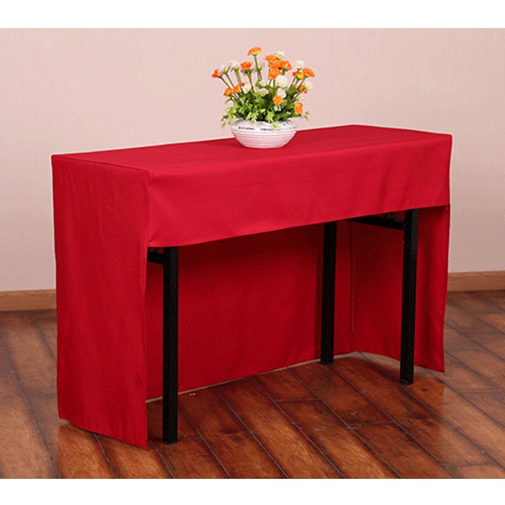 60 x 120 cm Wrinkle resistant Fitted Tablecloth Table Desk ...