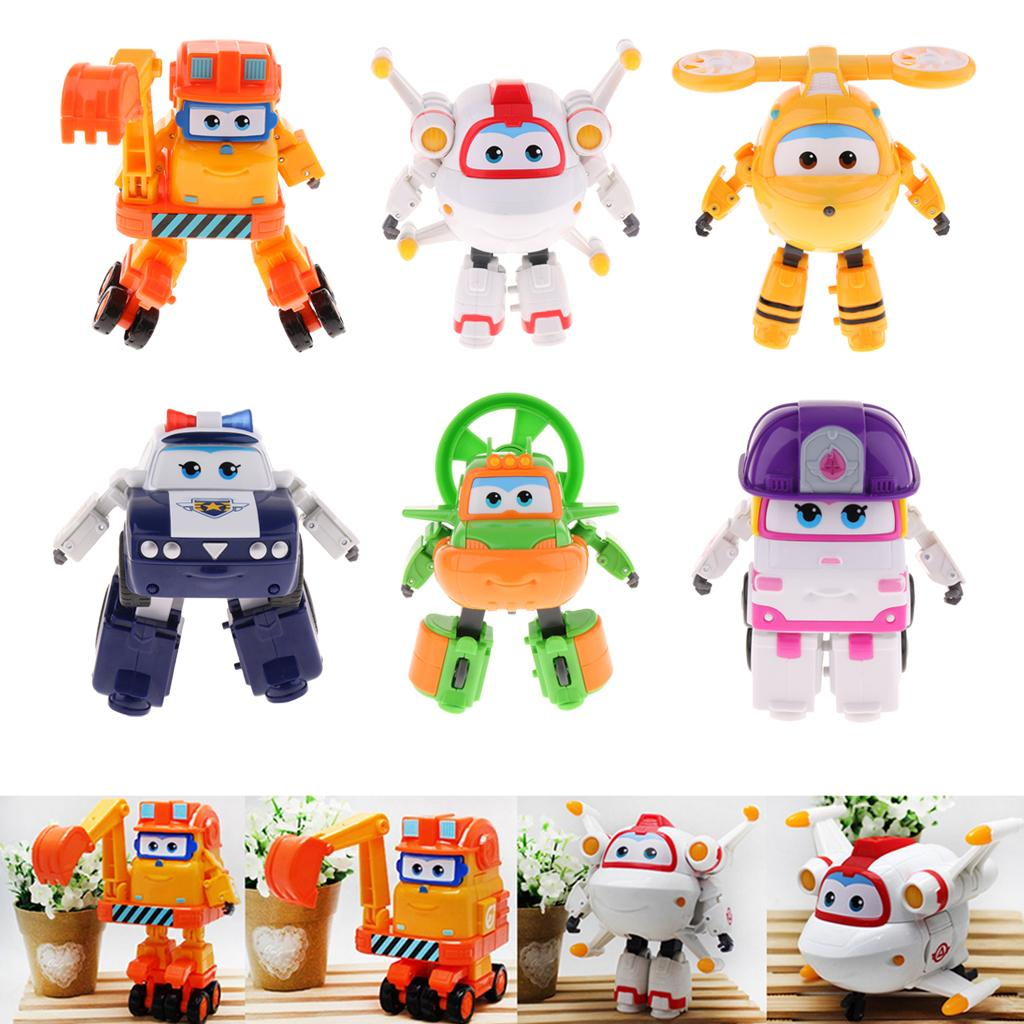 Set of 3Pcs English Letters Armour Transforming Robot Collectable H I J