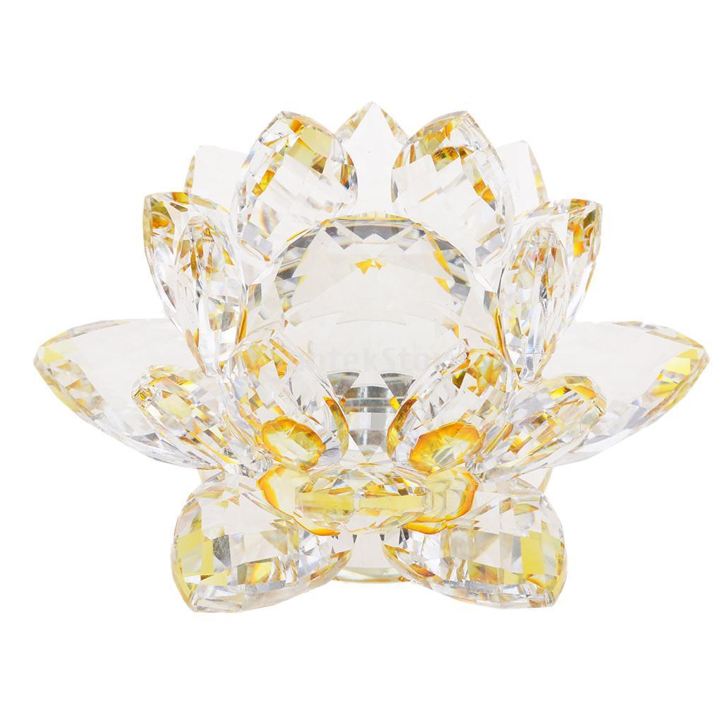 Porte-bougie-En-Verre-Cristal-Bougeoir-Lotus-Pour-Bougie-Candle-Holder-8x5cm miniature 7