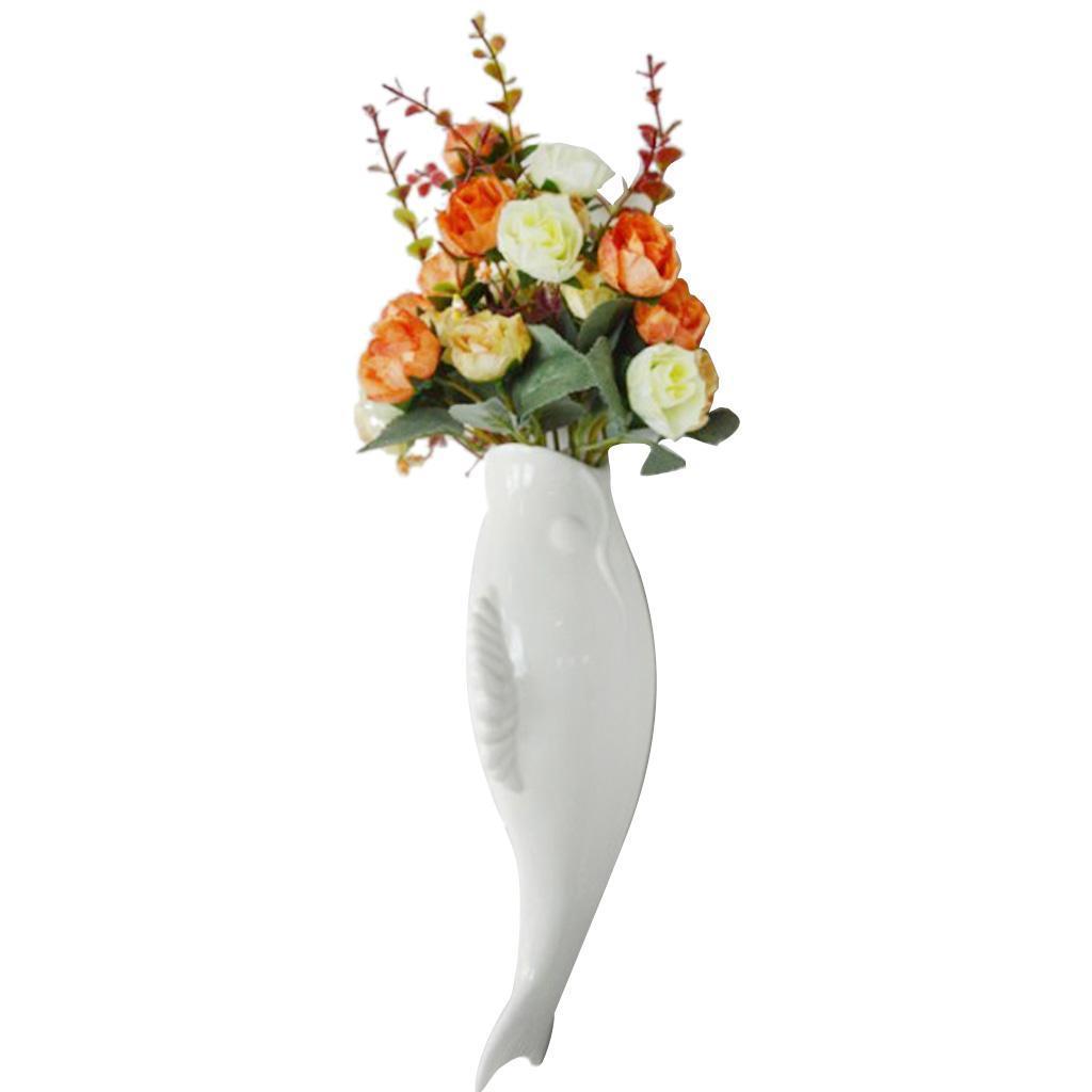Plantes-murales-en-ceramique-de-poissons-suspendus-fleur-Vase-Mural-pour-la miniature 13