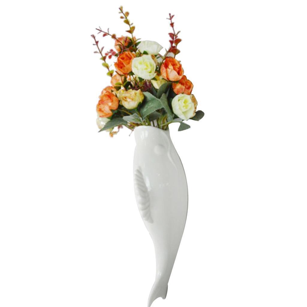 Plantes-murales-en-ceramique-de-poissons-suspendus-fleur-Vase-Mural-pour-la miniature 14