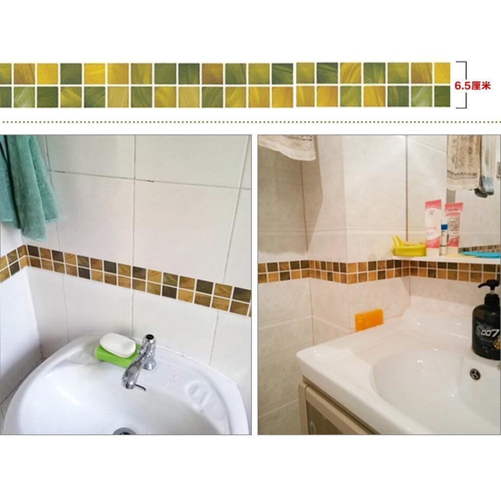 1 Mt selbstklebende Fliesen Aufkleber für Badezimmer Küche