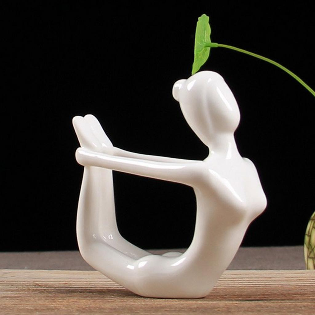 Blesiya Yoga Posture Ornament Statue for Desk Table Shelf Decor Collections