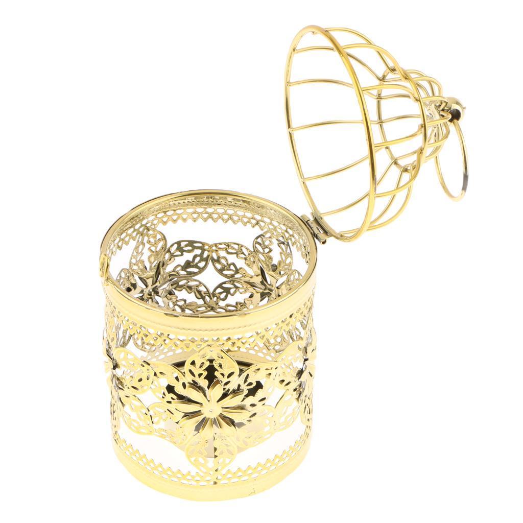 Hollowed-Flower-Metal-Tealight-Candlestick-Birdcage-Candle-Holder thumbnail 20