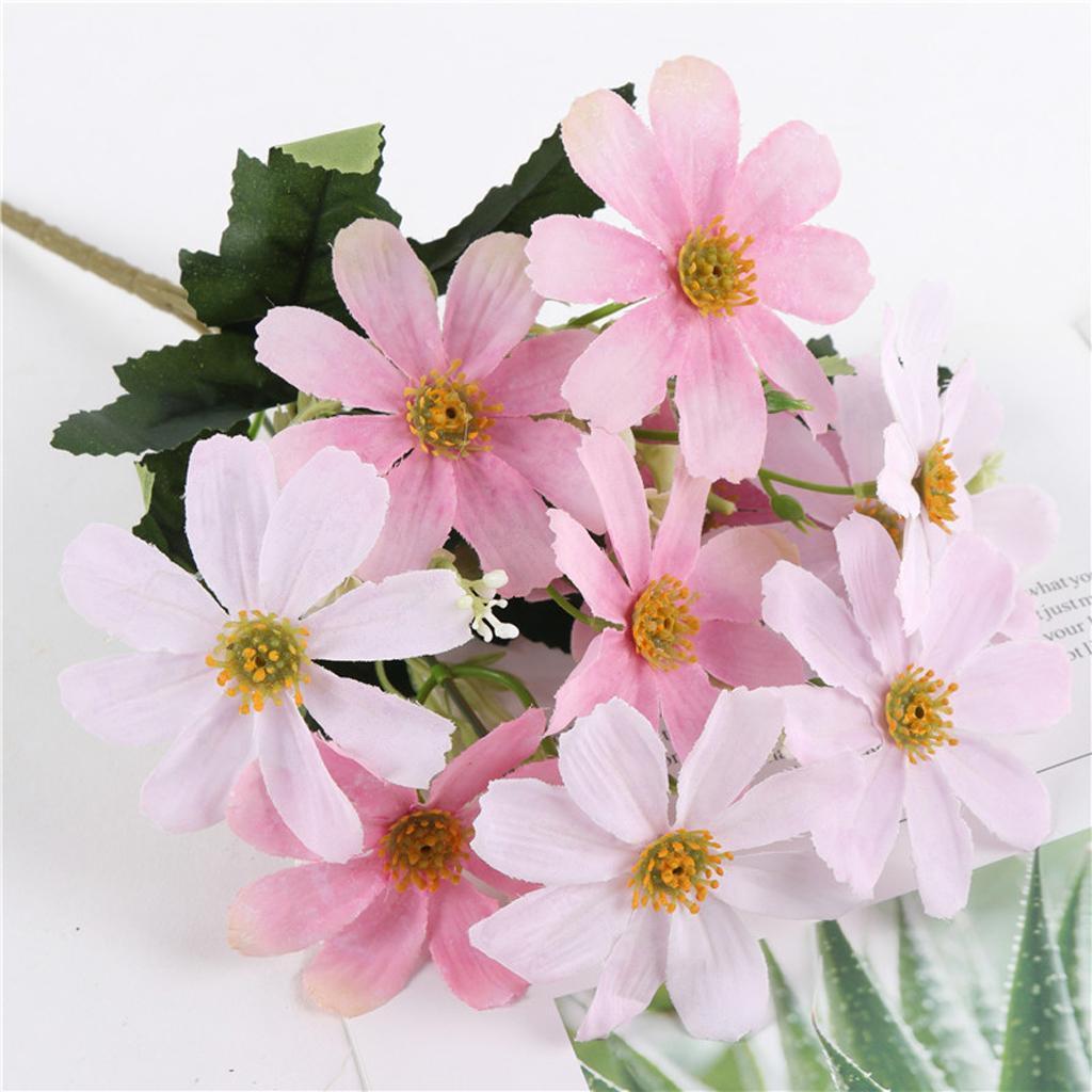 Silk Flower Bouquets Do Yourself: Lifelike Artificial , Faux Silk Daisy Wild Flowers Bouquet