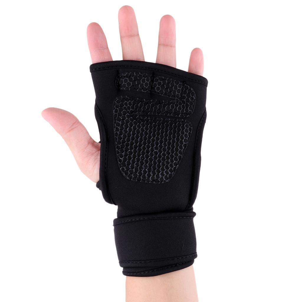 Fitness-Gloves-Weight-Lifting-Gym-Workout-Training-Wrist-Support-Wrap-Straps thumbnail 8