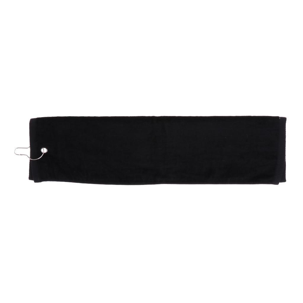 55x40cm-Cotton-Tri-Fold-Hiking-Cotton-Golf-Sport-Bag-Towel-W-Carabiner-Clip thumbnail 10