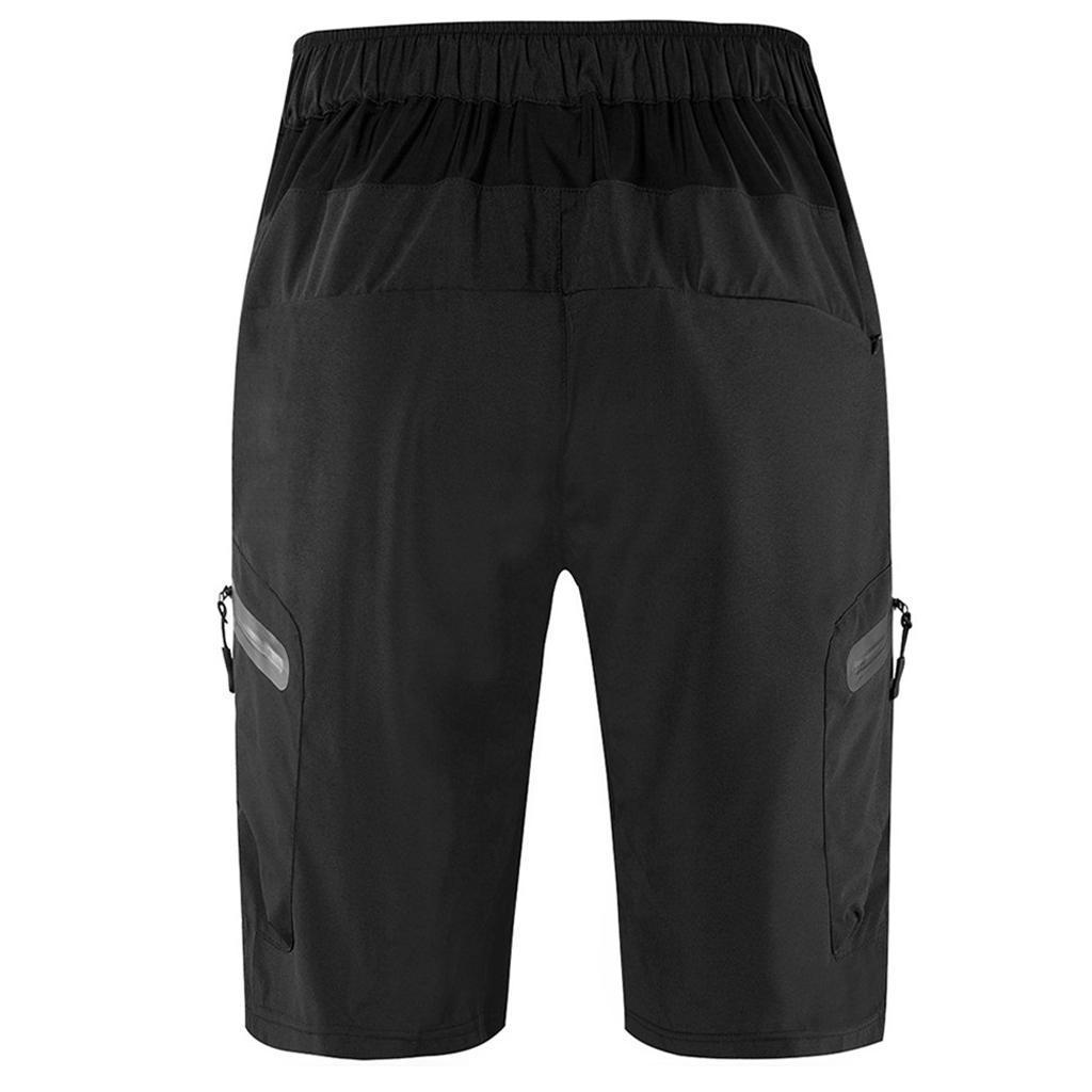 Rembourre-Baggy-Cycling-shorts-casual-velo-pantalon-court-sous-vetements-Noir miniature 9