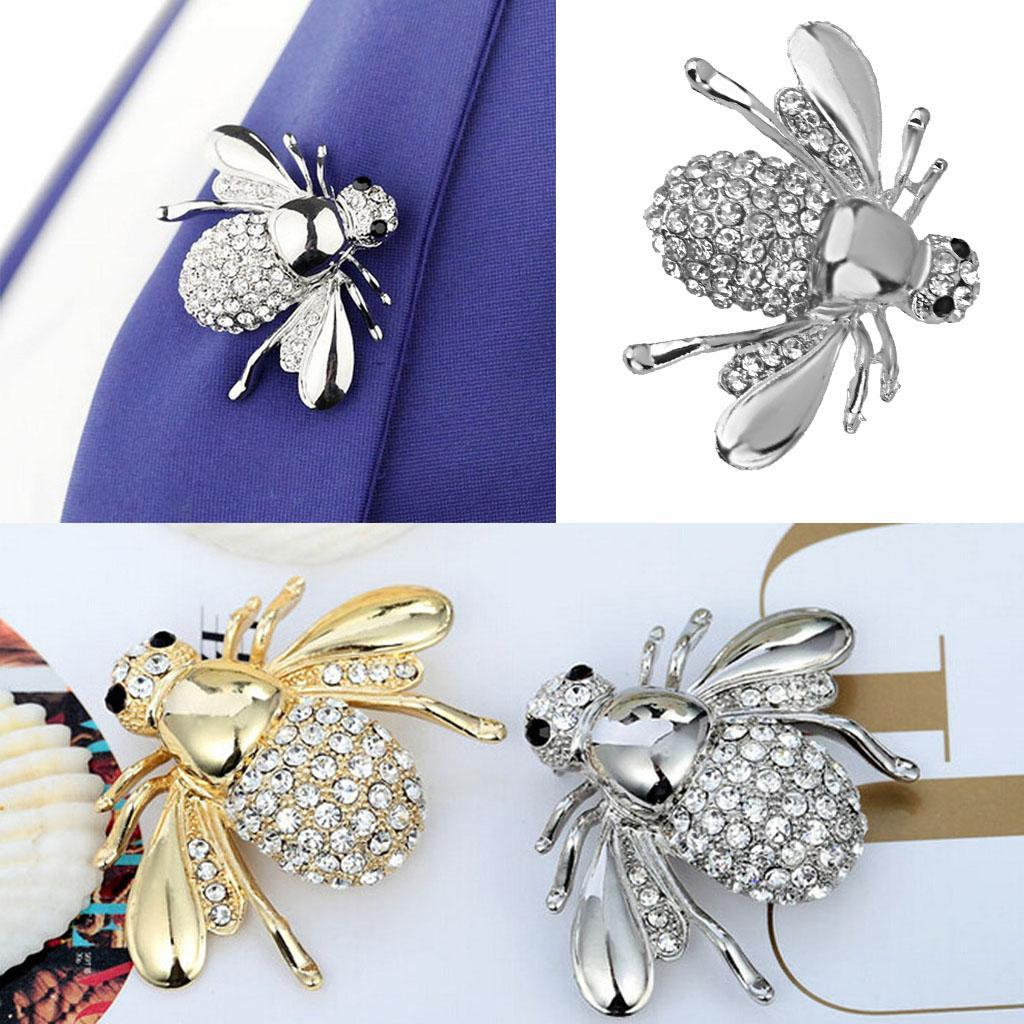 Vintage-Enamle-Rhinestone-Bee-Beetle-Butterfly-Insect-Bug-Pin-Brooch-Breastpin thumbnail 15