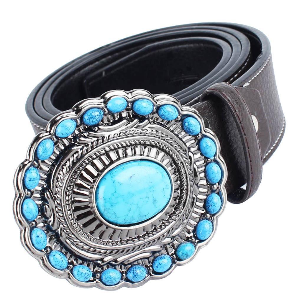 Cintura-da-cintura-con-fibbia-in-pelle-di-Bohemian-Western-Cowboy-PU miniatura 4