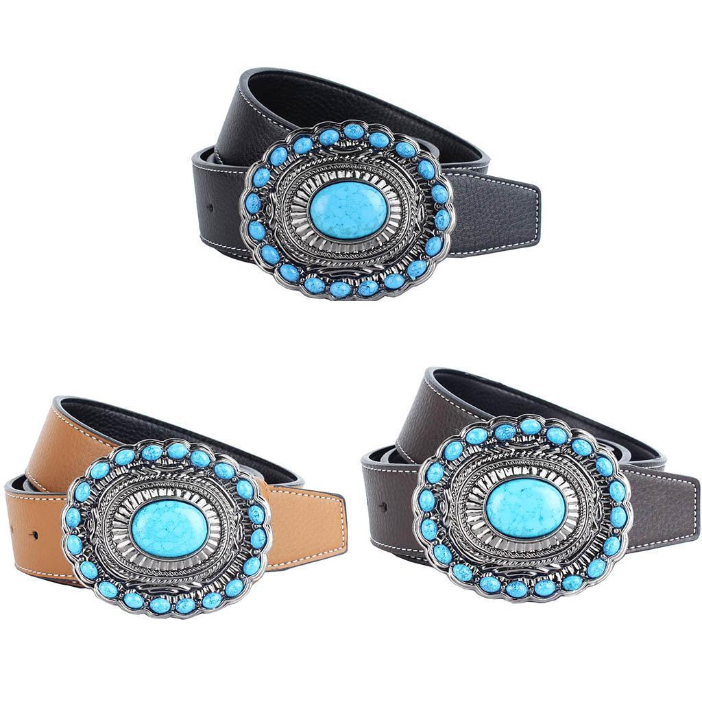 Cintura-da-cintura-con-fibbia-in-pelle-di-Bohemian-Western-Cowboy-PU miniatura 5