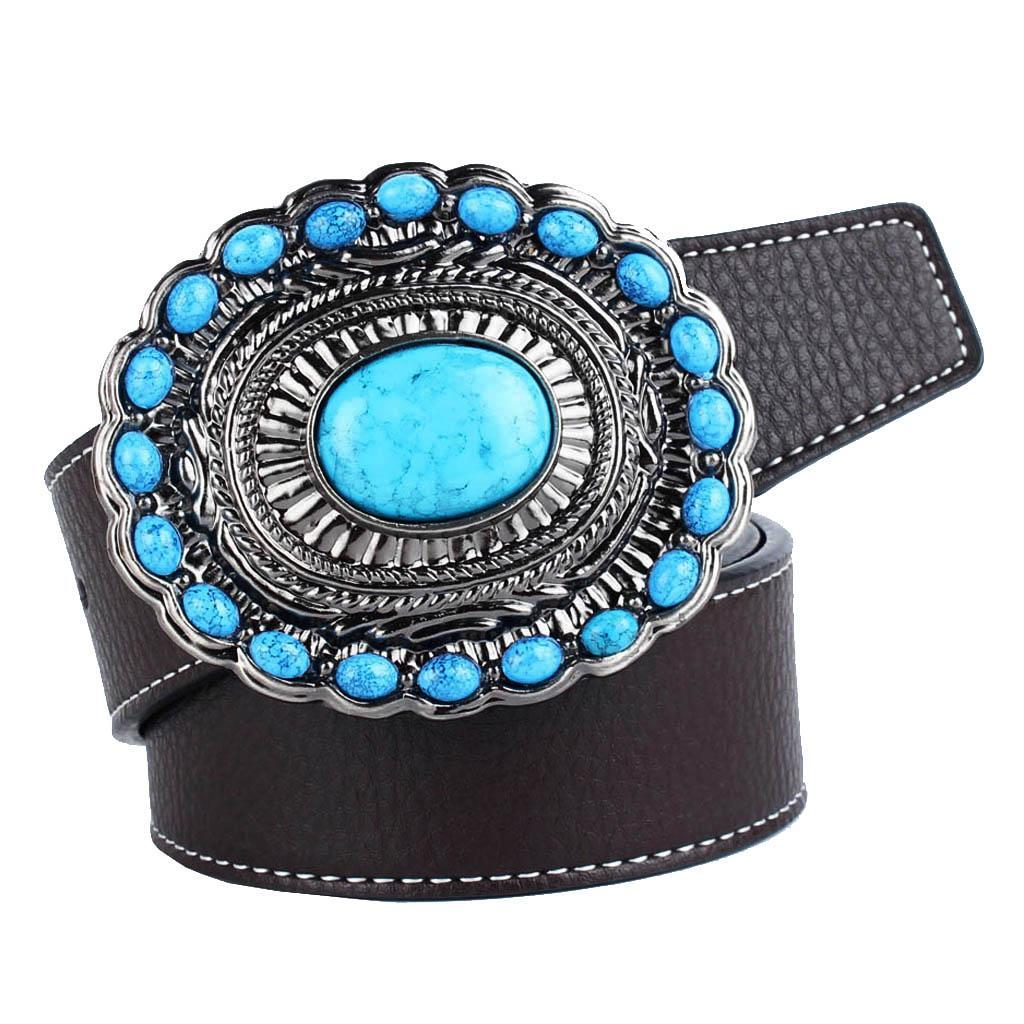 Cintura-da-cintura-con-fibbia-in-pelle-di-Bohemian-Western-Cowboy-PU miniatura 3