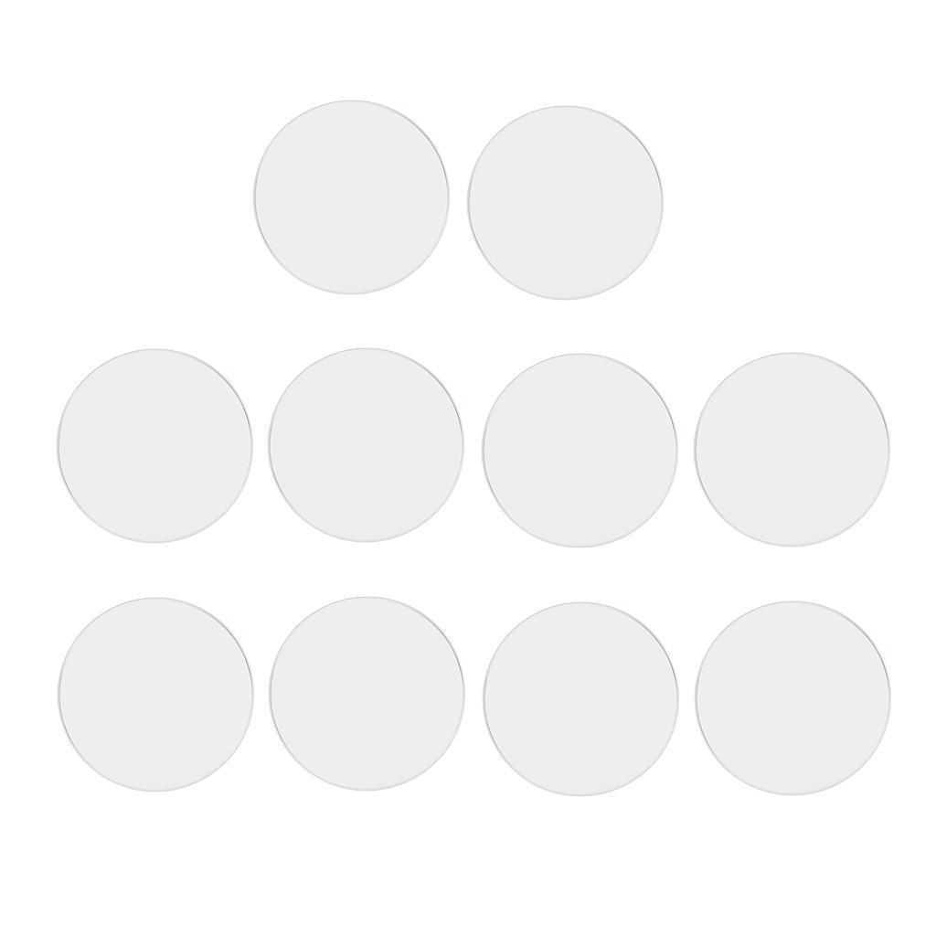 10-Pezzi-Glass-per-Orologio-DIY-Strumento-Vetro-Minerale-in-Cristallo miniatura 3