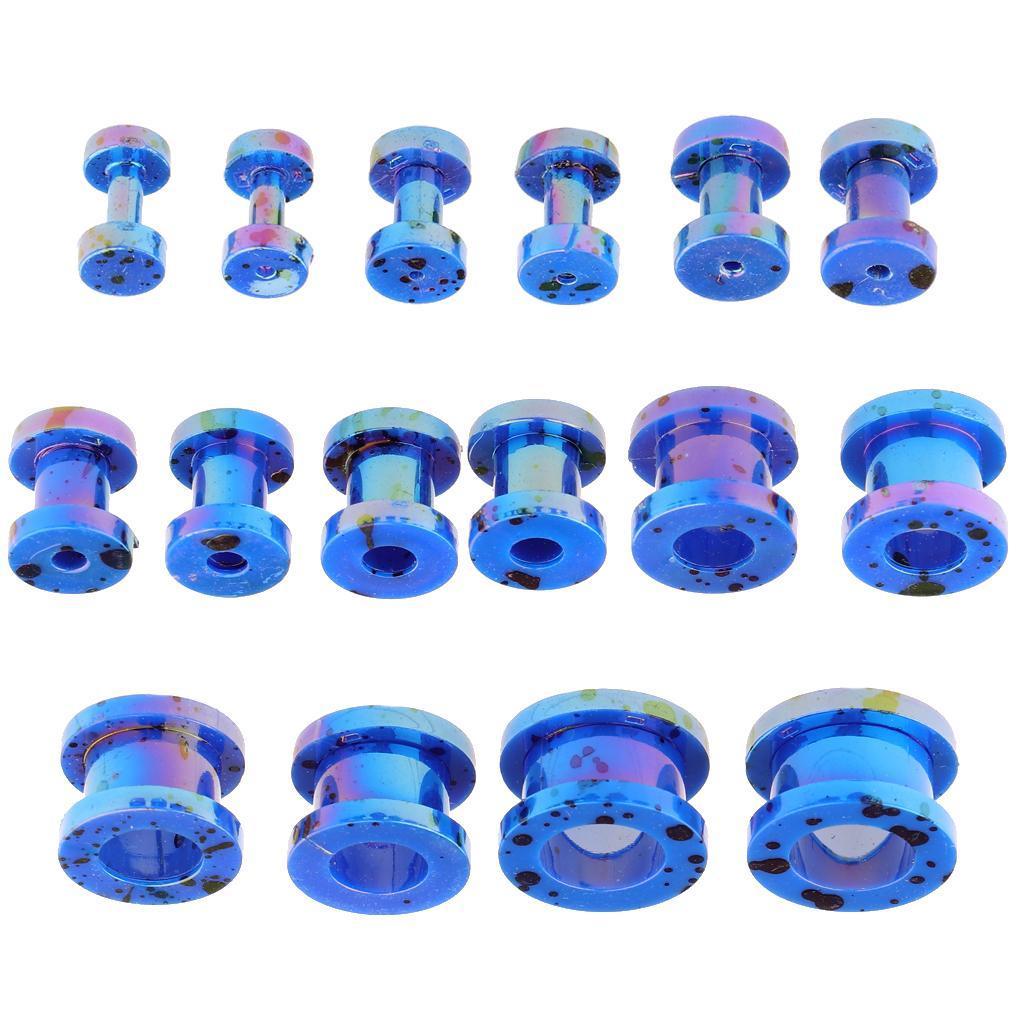 16-Pezzi-Tappi-Orecchie-Acrilico-Colorfast-Comodo-Accessorio-Moda-Per miniatura 26