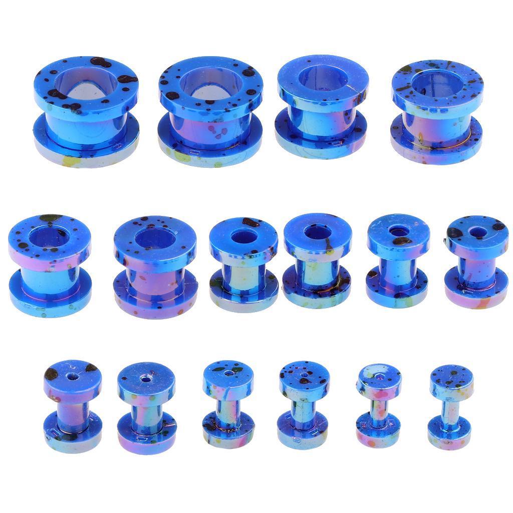 16-Pezzi-Tappi-Orecchie-Acrilico-Colorfast-Comodo-Accessorio-Moda-Per miniatura 25