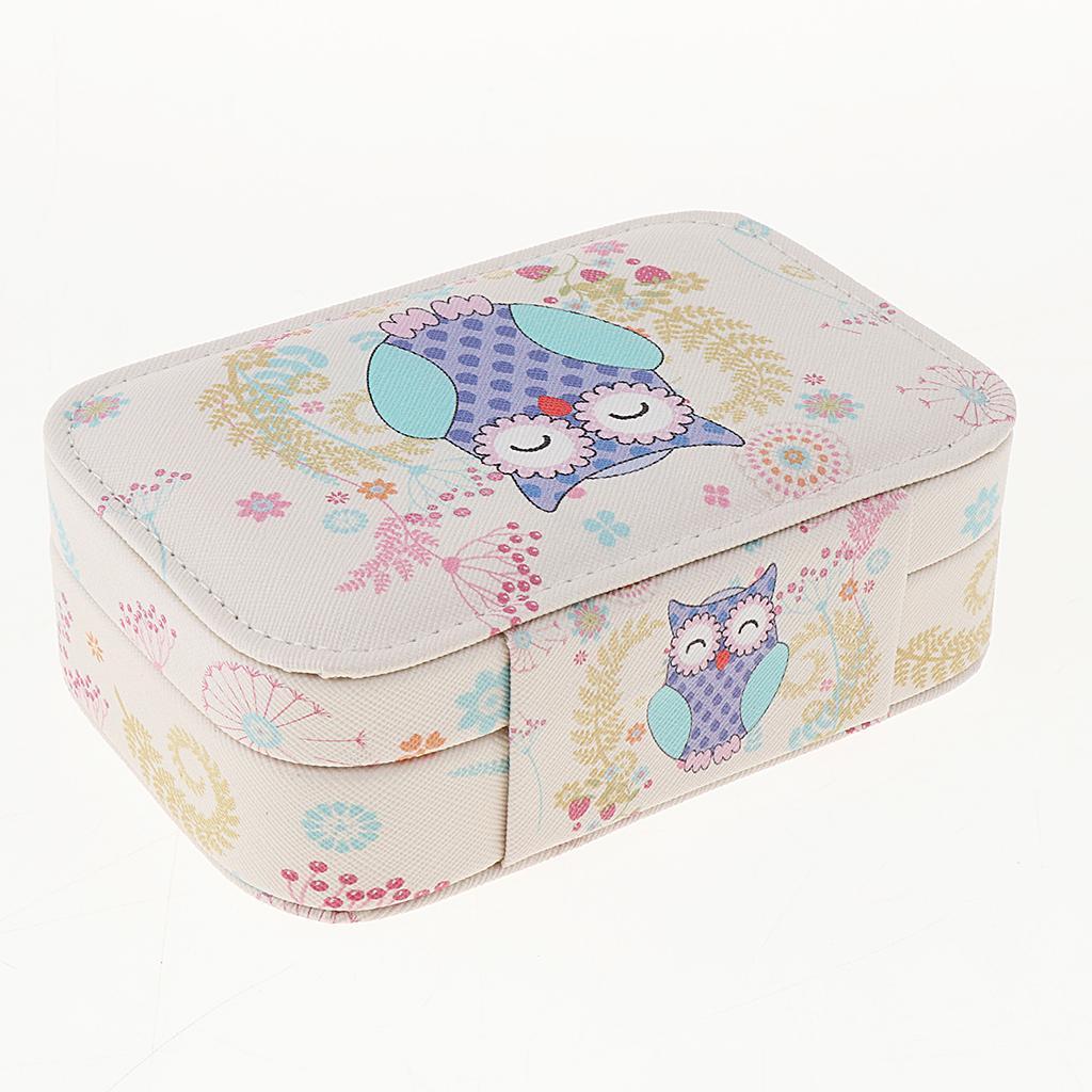 Portable-Women-Earring-Box-Display-Wedding-Jewelry-Travel-Box-Case-Small thumbnail 9