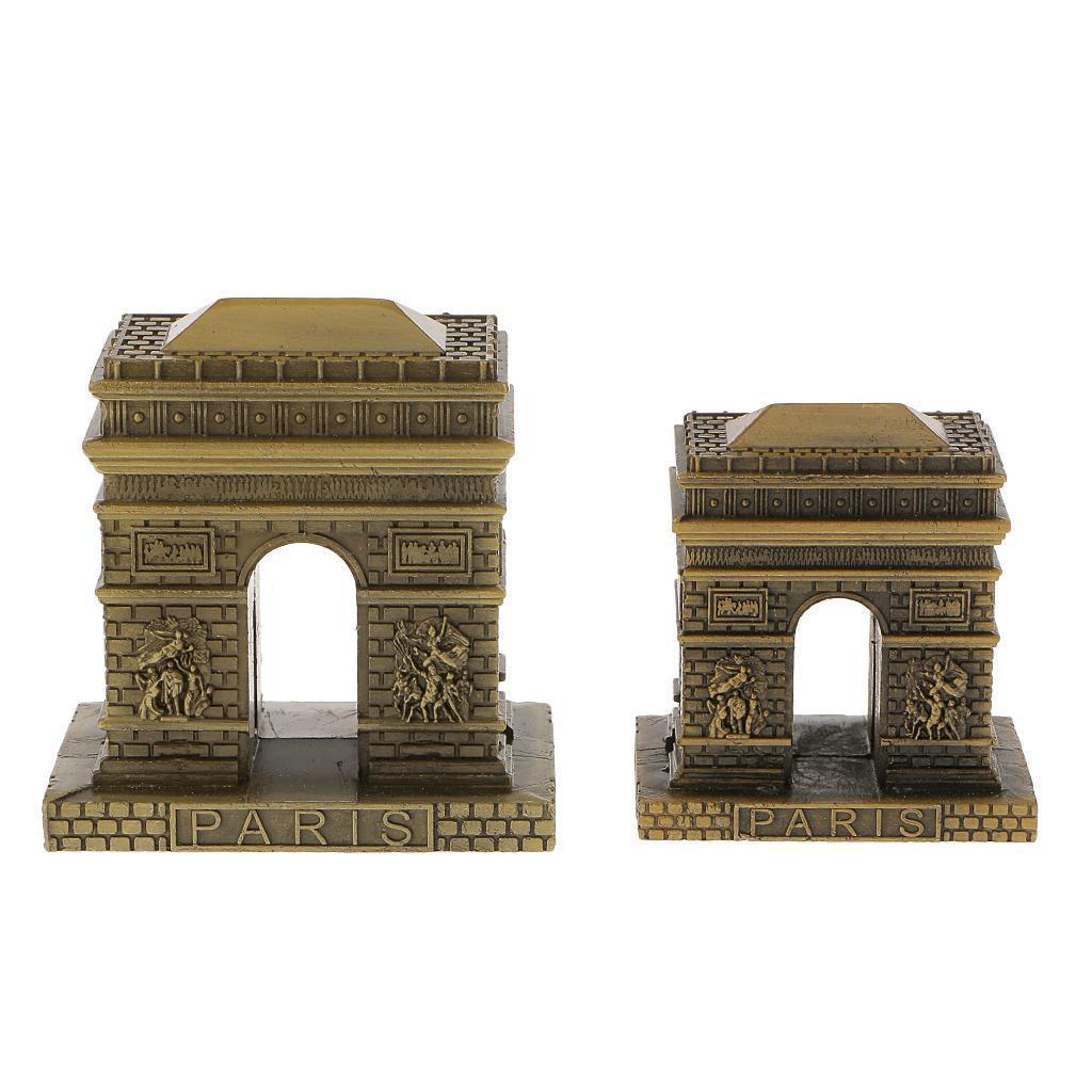 Bronze-World-039-s-Famous-Building-Architecture-Model-Statue-Landmark-Home-Decor thumbnail 21