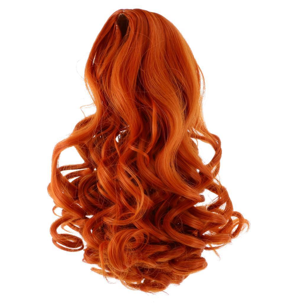 Straight-Gradient-Curly-Hair-Wig-for-18-039-039-Doll-Dress-up-Accessory thumbnail 18