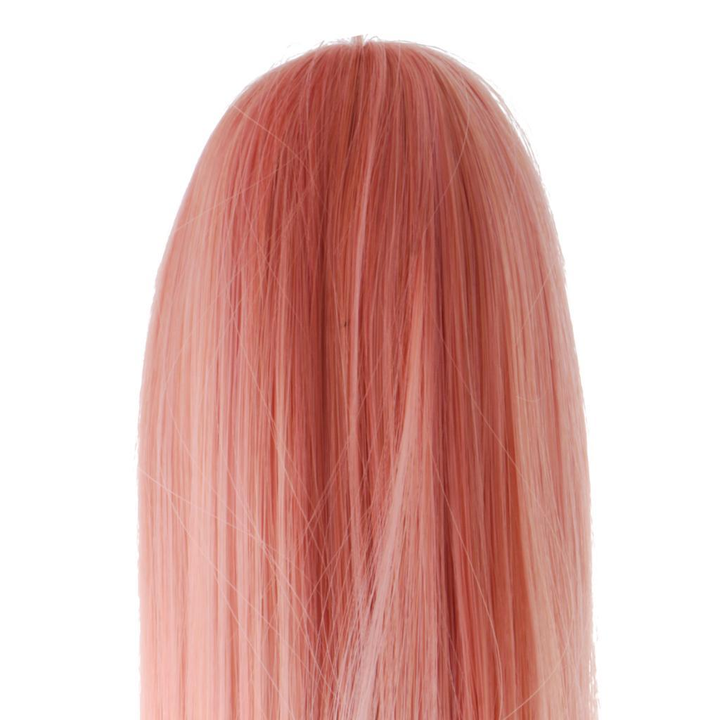 Straight-Gradient-Curly-Hair-Wig-for-18-039-039-Doll-Dress-up-Accessory thumbnail 58