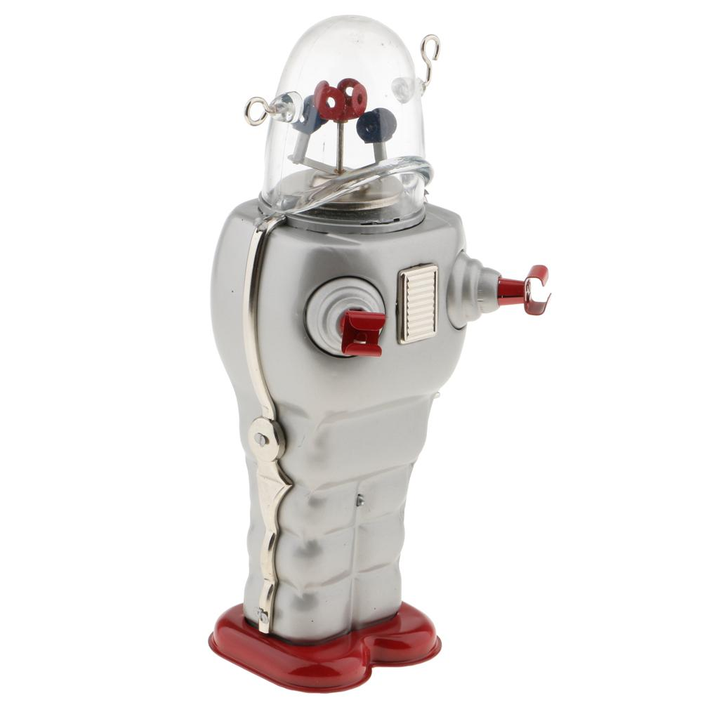 Détails sur Jouet Mécanique Ancien Métal Robot d'Espace Vintage Cadeau Enfant Décor Maison