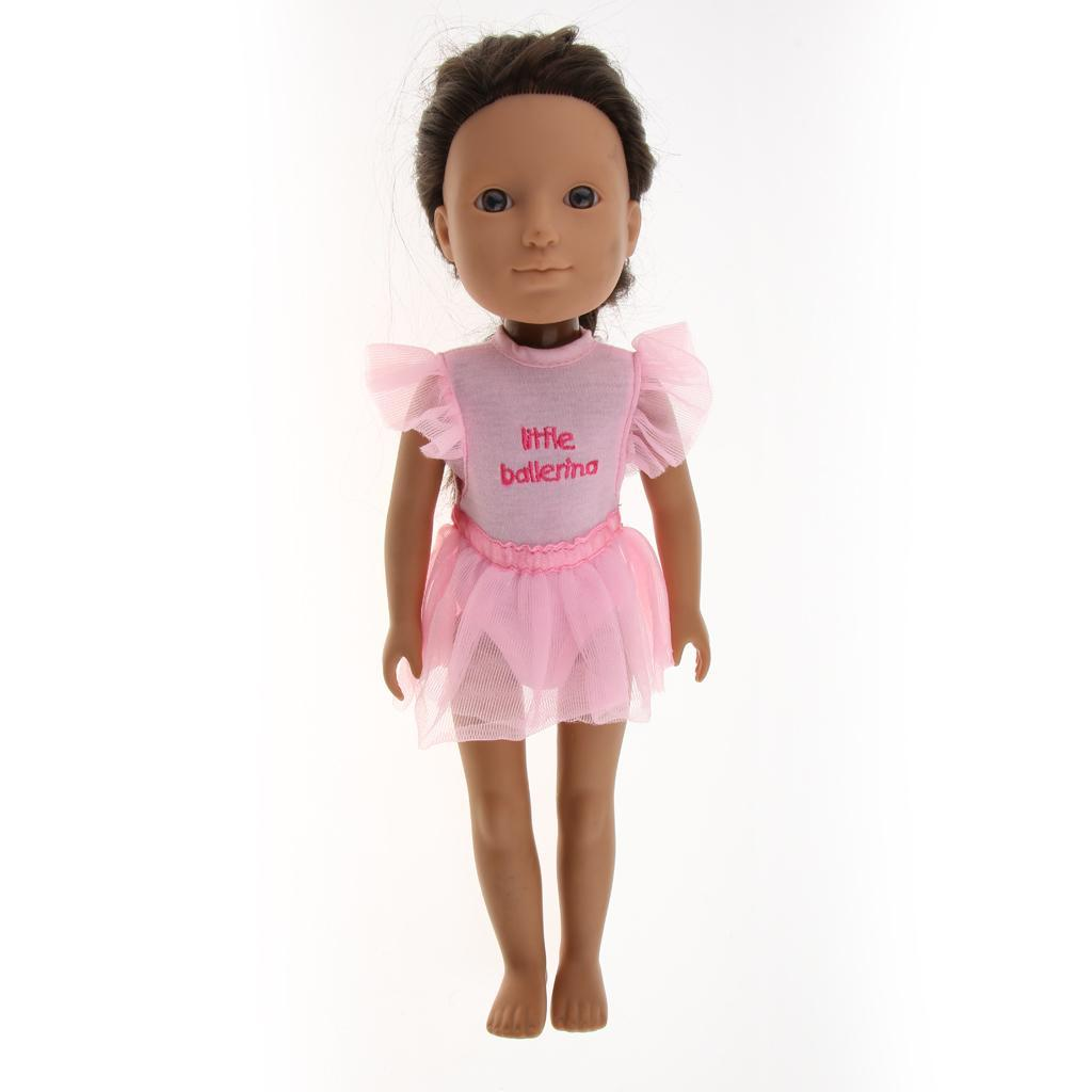 For-14-inch-Wellie-Wishers-American-Doll-Dolls-Clothing-T-shirt-Miniskirt-Romper thumbnail 15