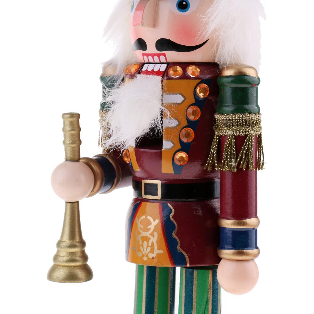 Multi Wood Nutcracker Soldier Figures Model Music Box Puppet Doll Home Decor Toy