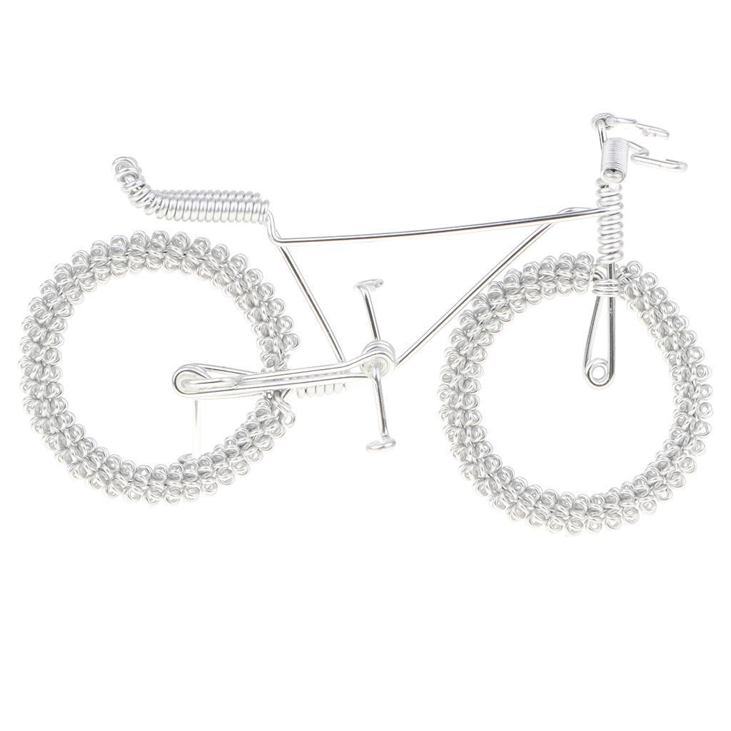 Giocattolo-Annata-Diecast-Bicicletta-Ornamento-Scrivania-Decorazione-Casa miniatura 13