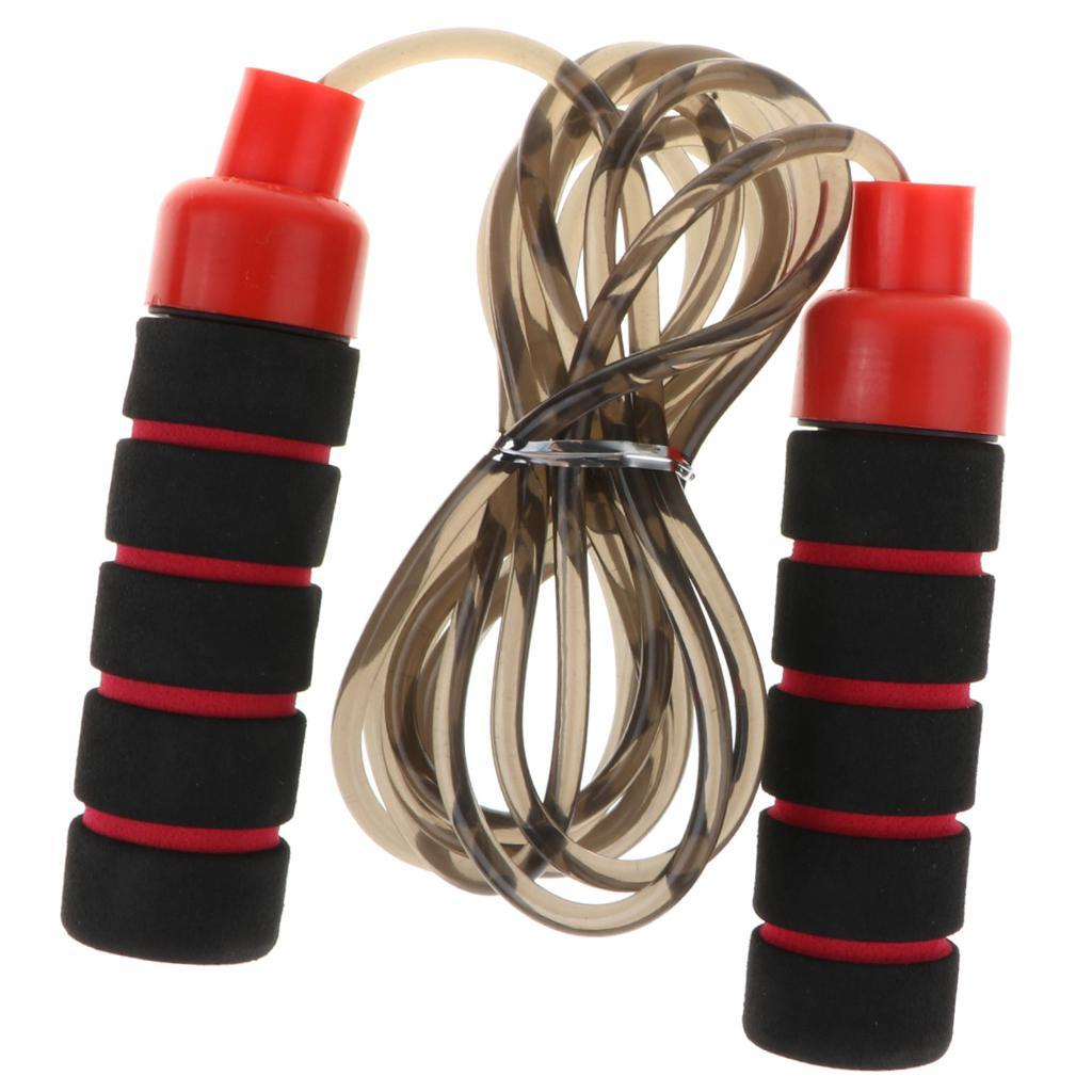 Aerobic-Exercise-PVC-Skipping-Jump-Rope-Boxing-Fitness-Sport-Gym-w-Foam-Handle thumbnail 13