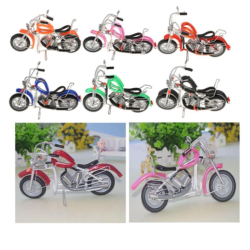 Mini-modello-di-moto-in-metallo-modello-di-moto-artigianato-perfetto-da miniatura 5