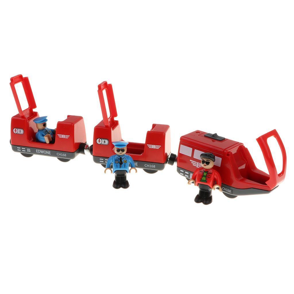 Varios-conjunto-de-construccion-de-tren-de-madera-TRACKS-Railway-Bridge-Accesorio-Juguete-compatible miniatura 22