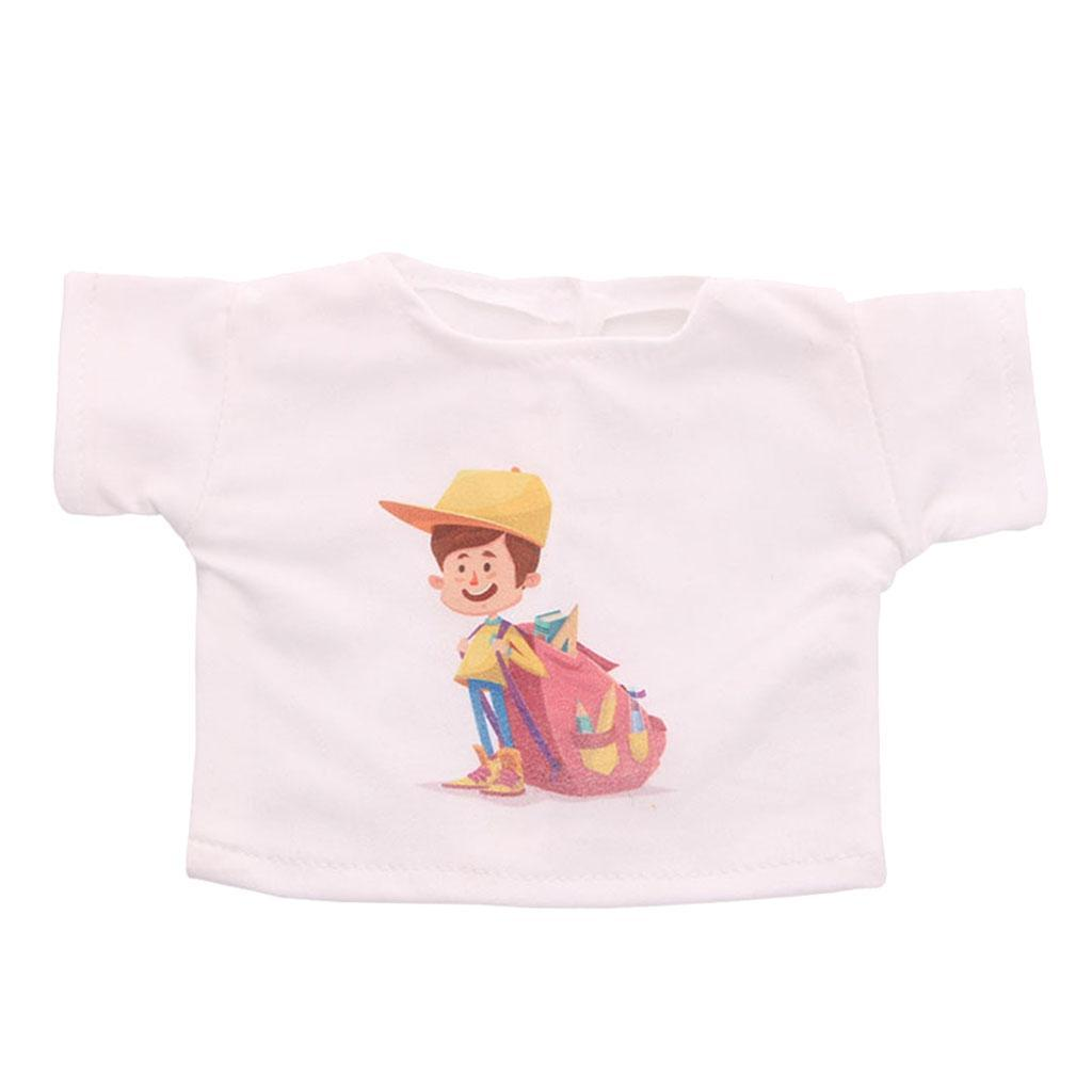 White-T-Shirt-for-AG-American-Doll-18-Inch-Dolls-Cute-Doll-Casual-Clothes thumbnail 3