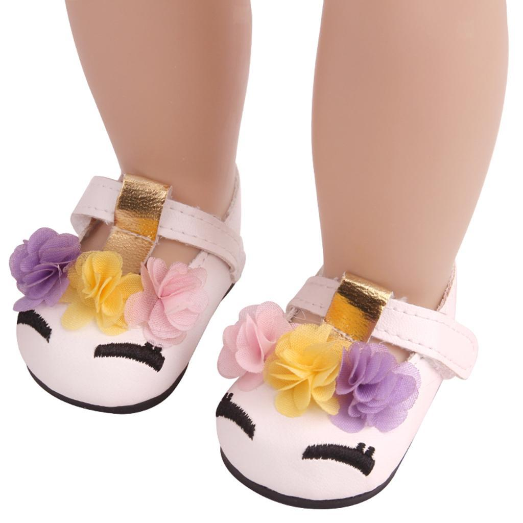Charming-Floral-Summer-Shoes-Sandal-for-18inch-American-Doll-Dress-Up-Accs miniature 3